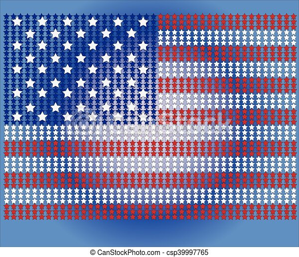 American Flag for Independence Day. Vector illustration. - csp39997765