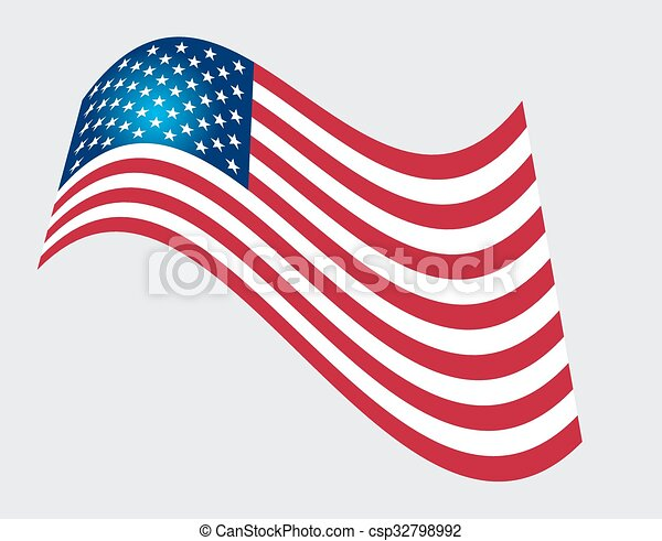 American Flag for Independence Day. Vector illustration. - csp32798992