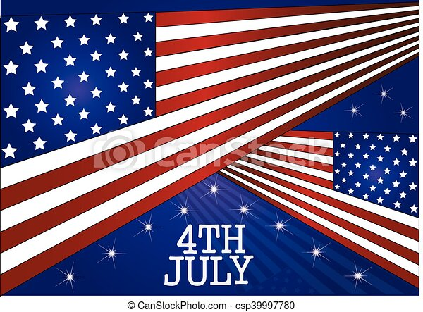 American Flag for Independence Day. Vector illustration. - csp39997780