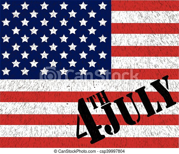 American Flag for Independence Day. Vector illustration. - csp39997804