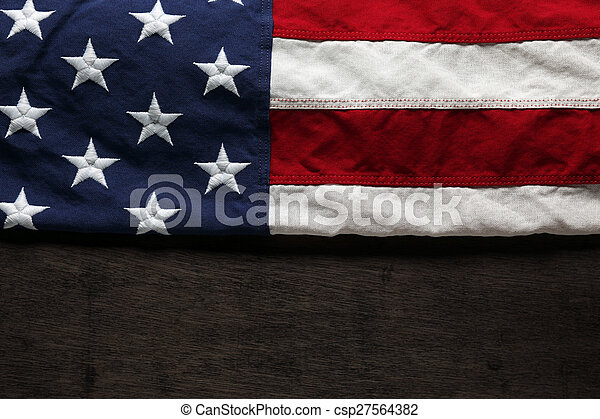 American flag for Memorial Day or 4th of July - csp27564382