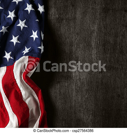 American flag for Memorial Day or 4th of July - csp27564386
