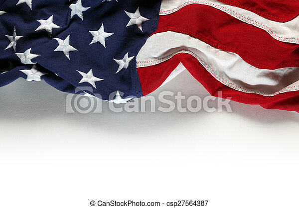 American flag for Memorial Day or 4th of July - csp27564387