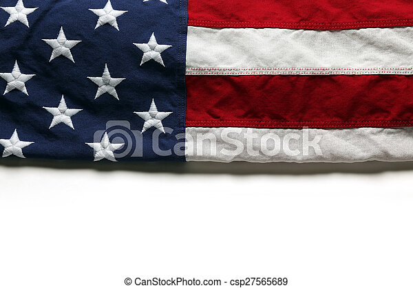 American flag for Memorial Day or 4th of July - csp27565689