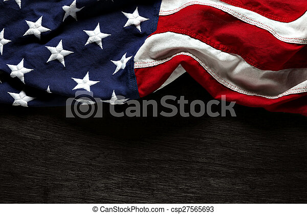 American flag for Memorial Day or 4th of July - csp27565693