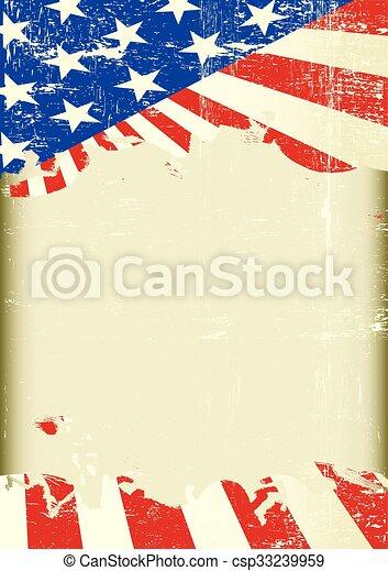 american flag frame - csp33239959