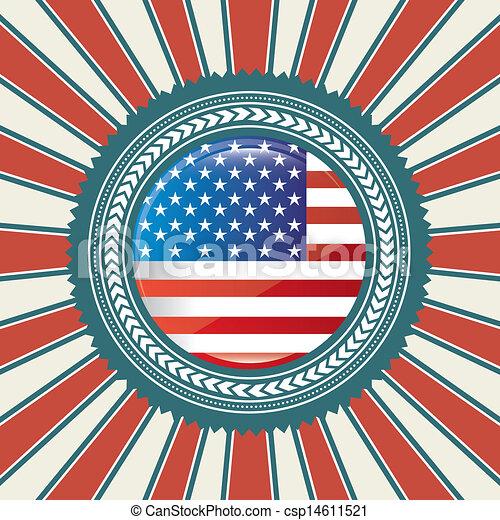 american flag - csp14611521