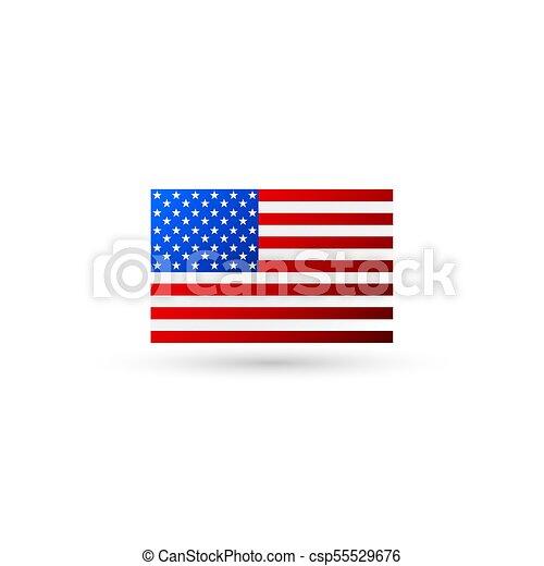 american flag logo vector vectors illustration search clipart rh canstockphoto com us flag logo download us flag logo's