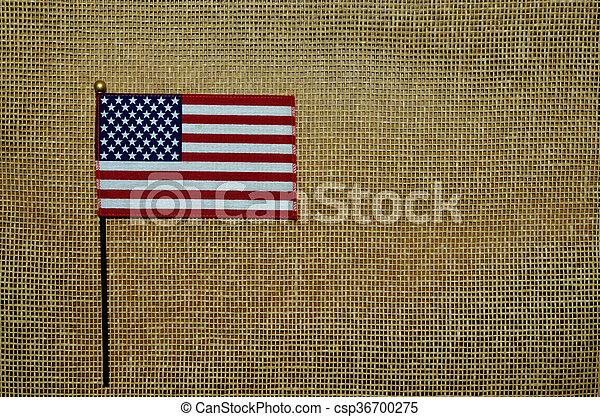 American flag on mesh background - csp36700275
