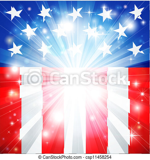 American flag patriotic background - csp11458254