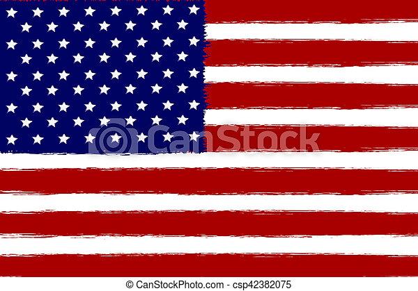 American flag, - csp42382075