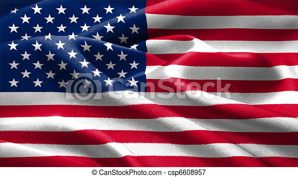 American flag. - csp6608957