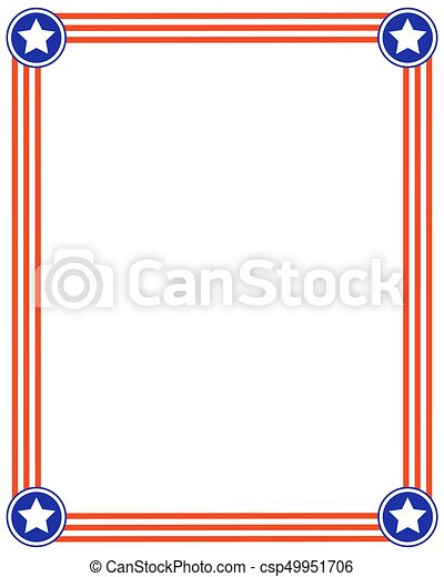American flag striped frame with stars. American flag stars striped ...