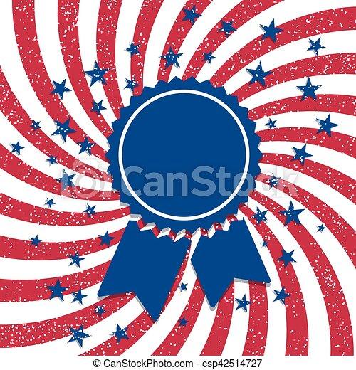 American flag style badge - csp42514727