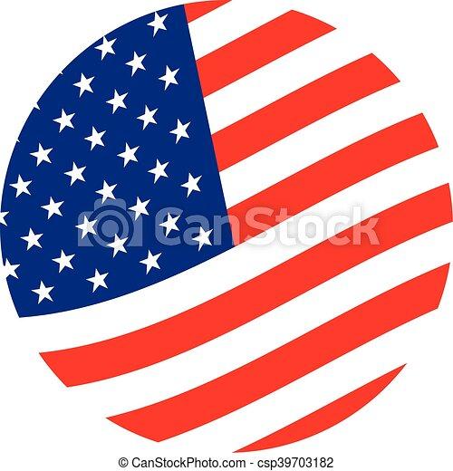 american flag vector icon vector search clip art illustration rh canstockphoto com american flag vector logo american flag vector clip art