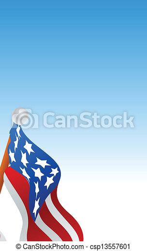 American Flag Vector - csp13557601