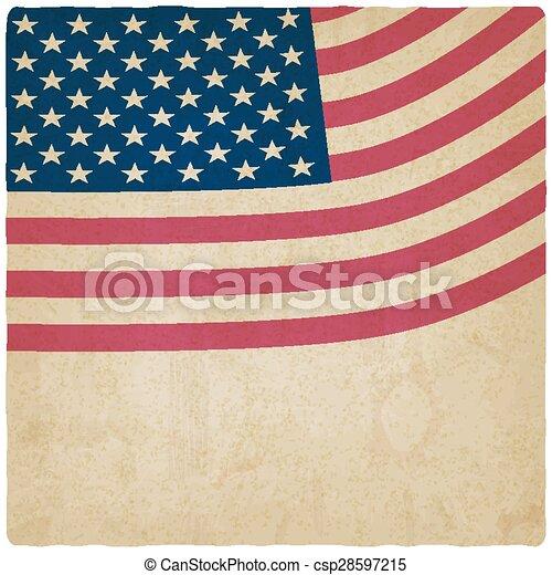 American flag vintage background - csp28597215