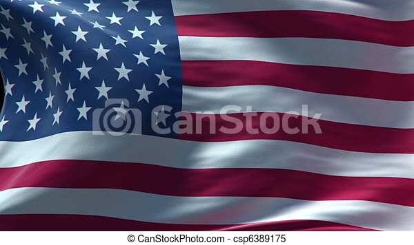 American Flag Waving Loop High Resolution Texture In HD
