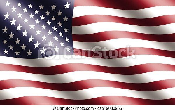 American Flag Waving - csp19080955