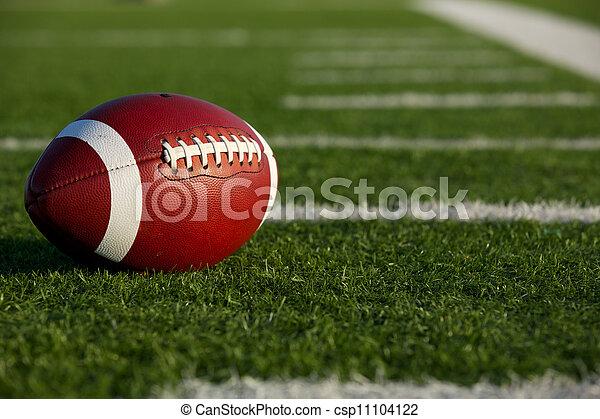 American Football amongst the Yard Lines - csp11104122