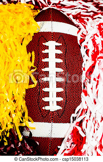 American Football and Pom Poms - csp15038113