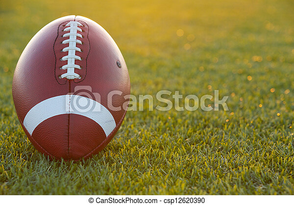 American Football at Sunset - csp12620390