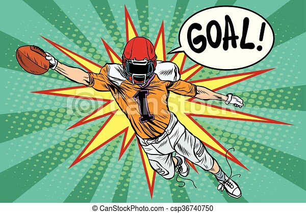 American football athlete ball goal - csp36740750