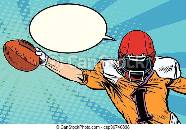 American football athlete ball goal - csp36740838
