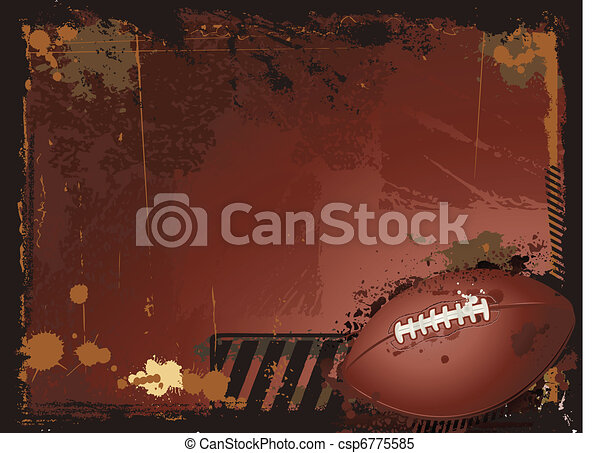 American football background - csp6775585