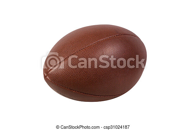 American football ball isolated on white background - csp31024187