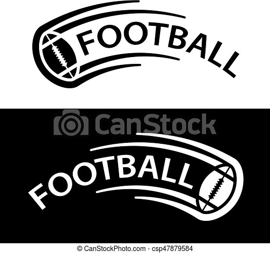 american football ball motion line symbol - csp47879584