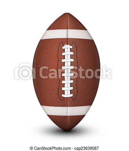 American Football Ball - csp23639587