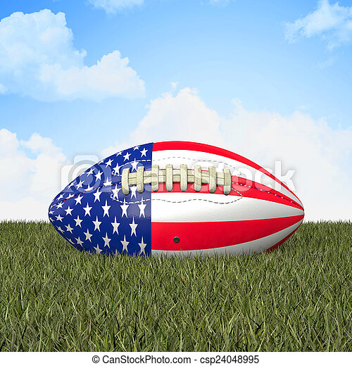 american football ball - csp24048995
