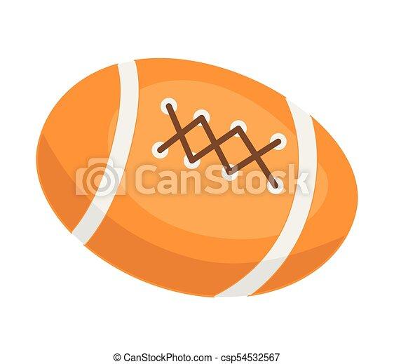 American football ball vector cartoon illustration - csp54532567