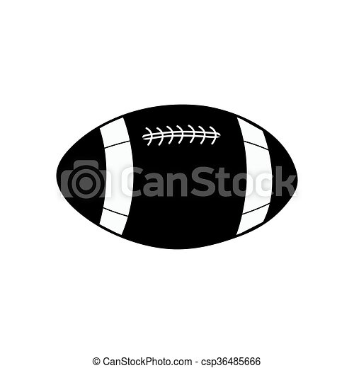 American football ball vector icon - csp36485666