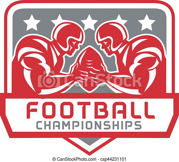 American Football Championship Crest Retro - csp44231101