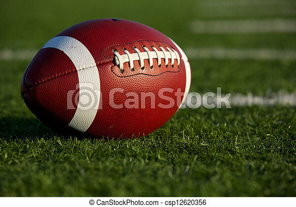 American Football Close Up - csp12620356