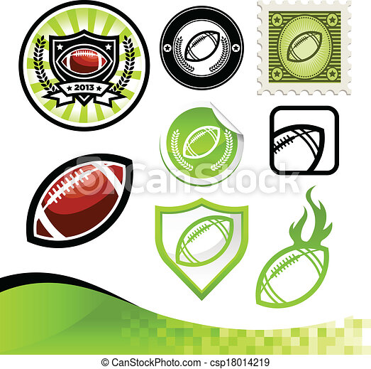 American Football Design Kit - csp18014219