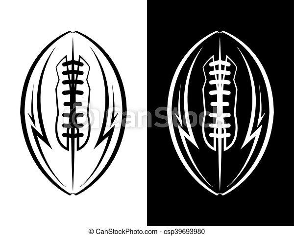 American Football Emblem Icon Illustration