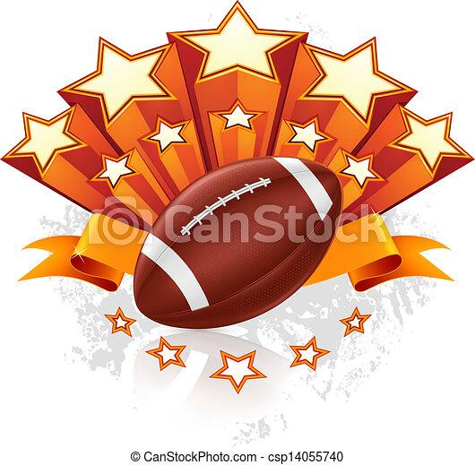 American Football Emblem, vector - csp14055740