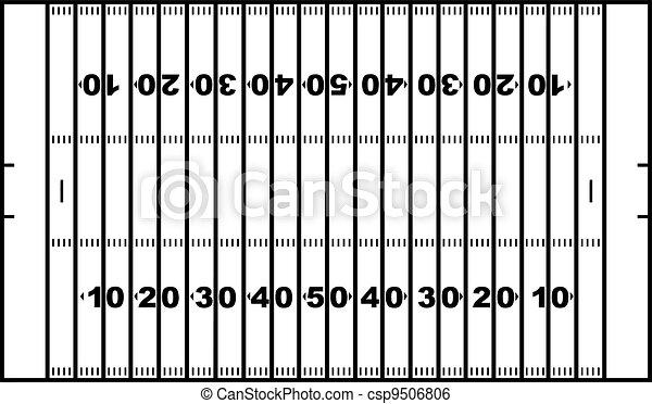 American football field - csp9506806