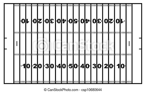 american football field american football field isolated on white rh canstockphoto com Football Clip Art Black and White Graphic Black and White Football Field