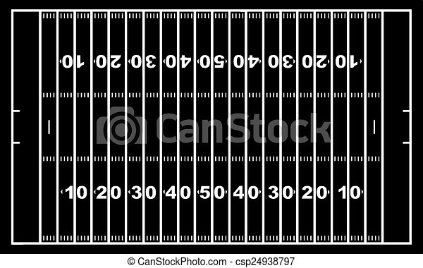 American football field  - csp24938797
