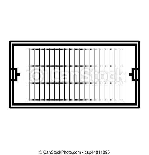 american football field icon vector illustration design eps vectors rh canstockphoto com football field clip art black and white football field clip art free