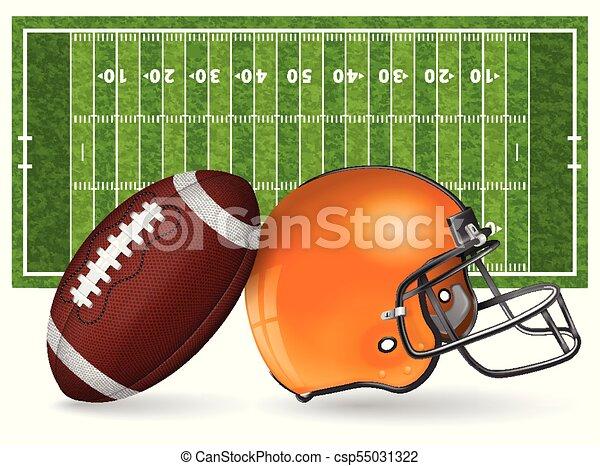 American Football Field - csp55031322
