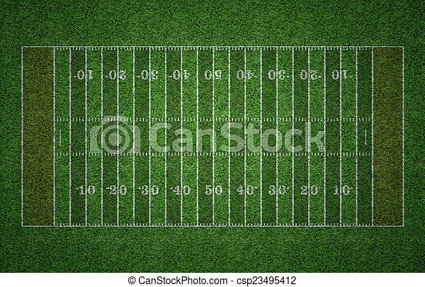 American Football Field on Grass - csp23495412