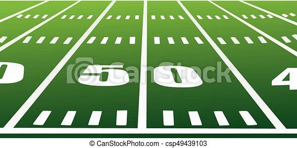 American football field vector - csp49439103