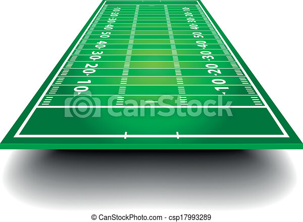 American Football Field with perspective - csp17993289