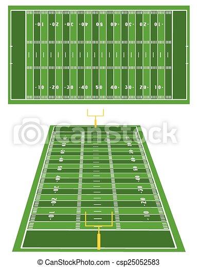 American Football fields - csp25052583