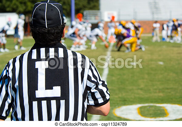 American Football game official -referee - csp11324789